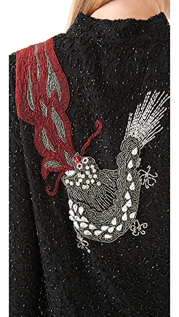 April, May Drea Sequin Dragon Jacket