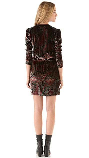 April, May Vera Velvet Printed Dress