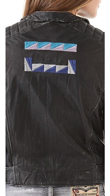 April, May Vanesa Leather Jacket