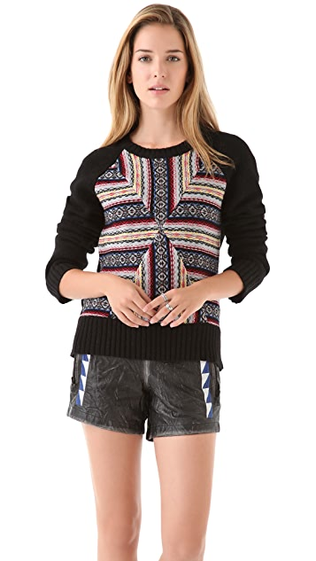 April, May Jay Intarsia Sweater