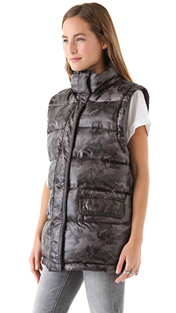 April, May David Puffer Jacket with Removable Sleeves