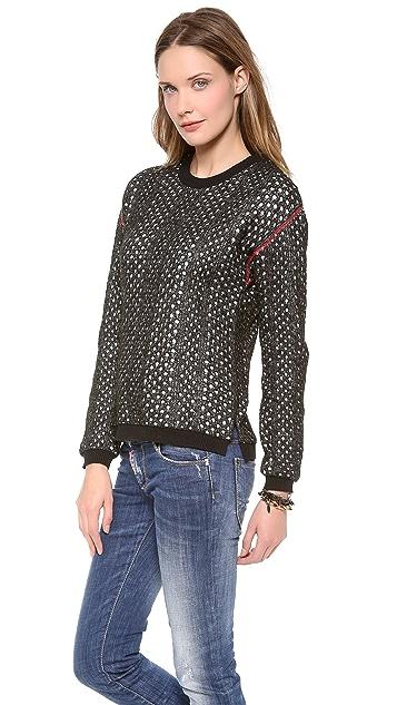 April, May Hudson Holes Knit Pullover