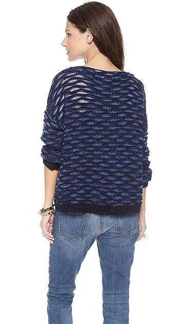 April, May Dahlia Drop Stitch Sweater