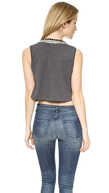 April, May Max Cropped Muscle Tee