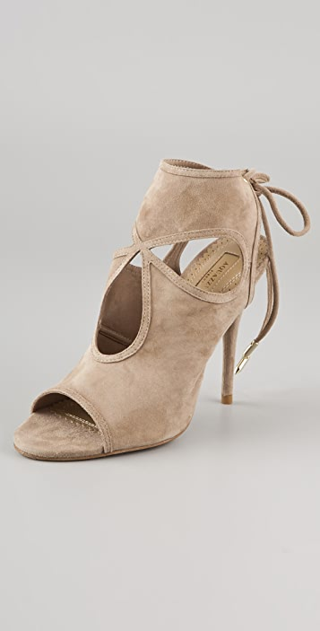 Aquazzura Sexy Thing Suede Ankle Booties