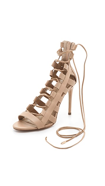 b22f2561c3a5e Aquazzura Amazon Lace Up Sandals