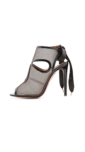 Aquazzura Sexy Thing Mesh Sandals