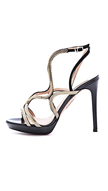 Aquazzura Martini Strappy Chain Sandals