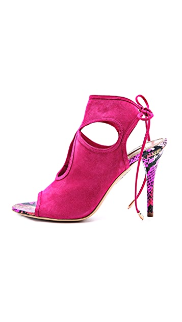 Aquazzura Sexy Thing Snake Sandals