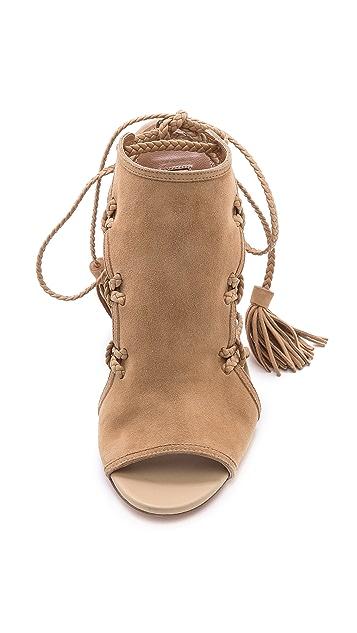 Aquazzura Sahara Braided Lace Sandals