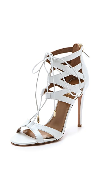 Aquazzura Beverly Hills Laced Sandals