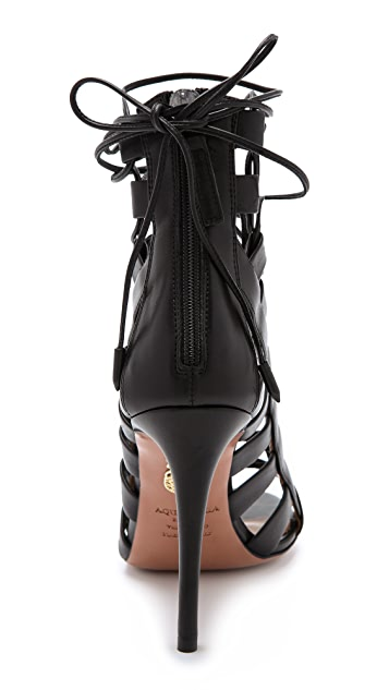 Aquazzura Amazon Lace Up Sandals