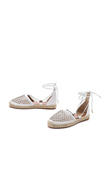 Aquazzura Blondie Ankle Wrap Espadrilles
