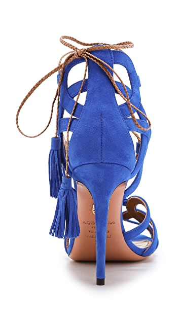 Aquazzura Mirage Tassel Sandals