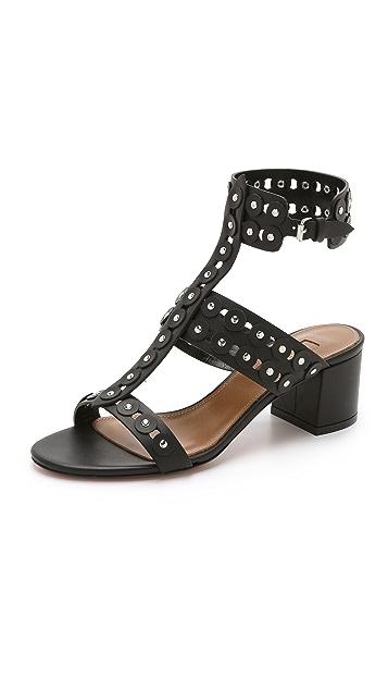 Aquazzura Rebel Studded Sandals ...