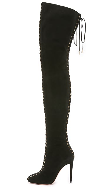 Aquazzura Corset Cuissard Boots