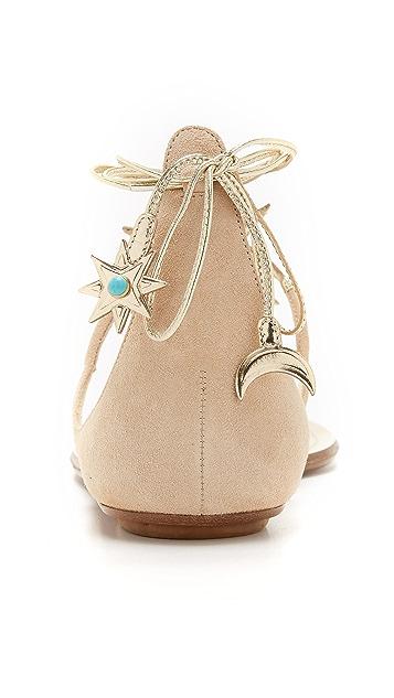 Aquazzura Aquazzura x Poppy Delevingne Midnight Flat Sandals