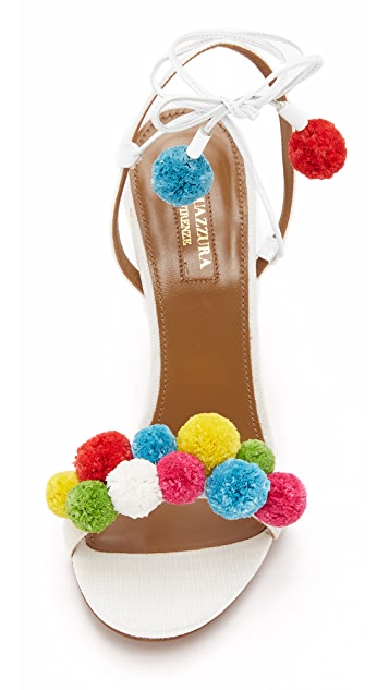 Aquazzura Pon Pon Sandals