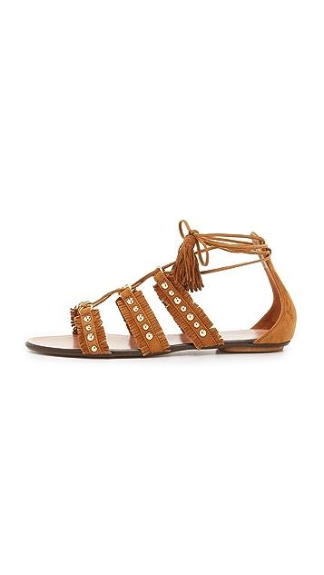Aquazzura Tulum Flat Sandals