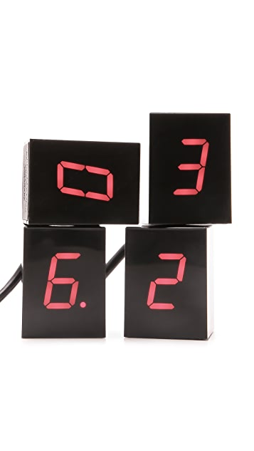 Areaware Numbers Clock