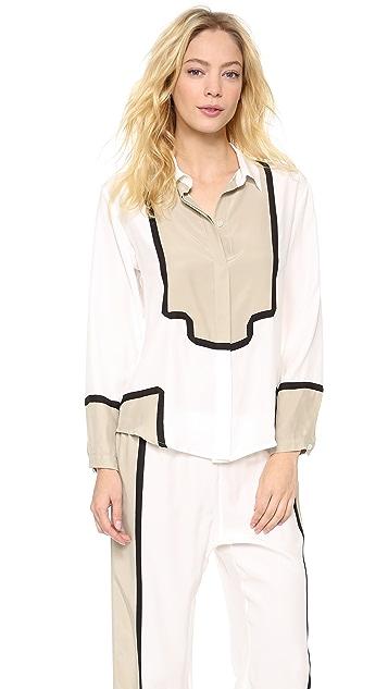6f365688cd Ari Dein Colorblock Boutique Hotel Pajama Top