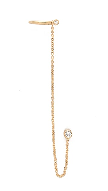 Ariel Gordon Jewelry Diamond Link Ear Cuff
