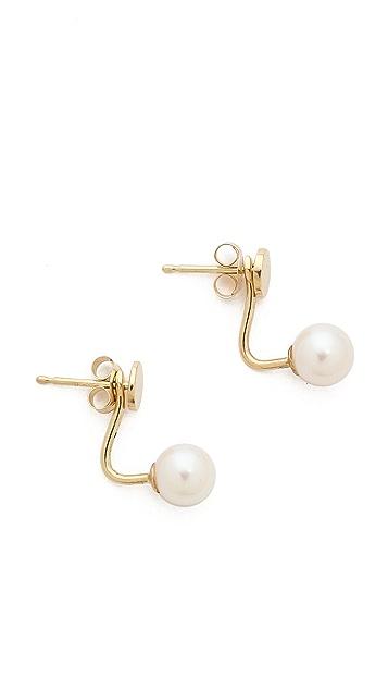 Ariel Gordon Jewelry Natural Freshwater Pearl Jacket Stud Earrings