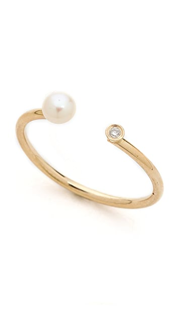 Ariel Gordon Jewelry Dual Natural Freshwater Pearl & Diamond Ring