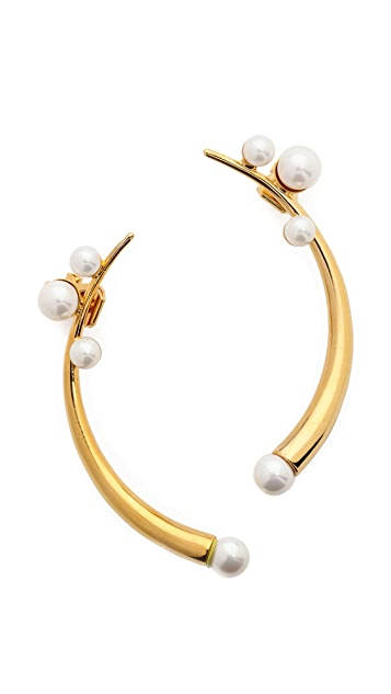 Amber Sceats Curved Imitation Pearl Ear Cuff Set