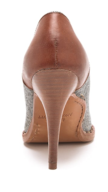 The Office of Angela Scott Mrs. Smith Wool Pumps