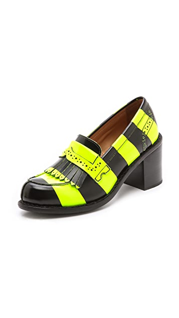 The Office of Angela Scott Miss Penny Striped Loafers