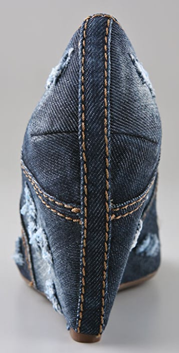 Ash Tashi Studded Denim Wedges