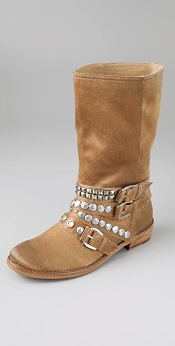 Ash Cult Studded Motorcycle Boots
