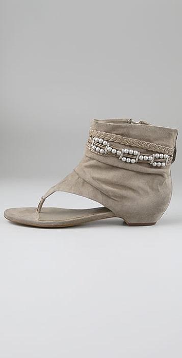 Ash Sari Suede Thong Booties