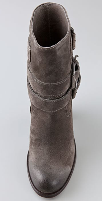 Ash Pal Suede Booties with Buckles