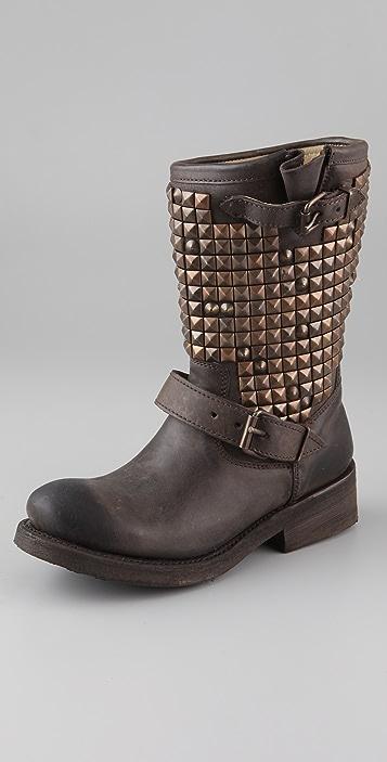 Ash Trash Studded Flat Boots