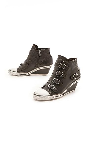 Ash Genial 4 Buckle Wedge Sneakers