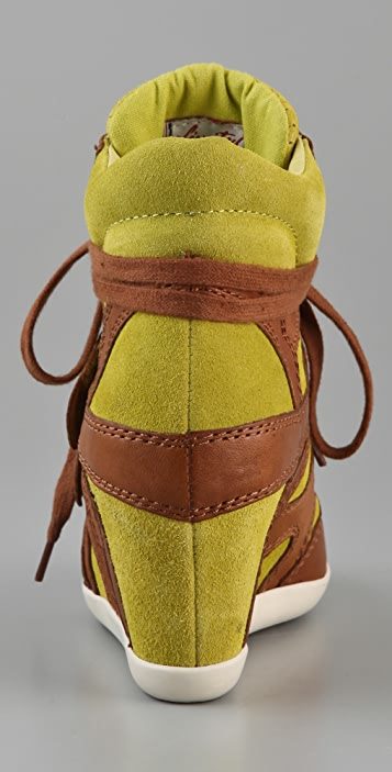 Ash Bea Suede Wedge Sneakers