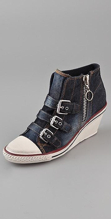 Ash Gin 3 Buckle Wedge Sneakers