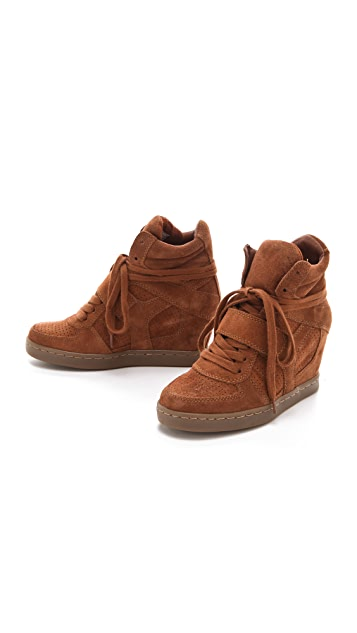 Ash Cool Wedge Sneakers in Suede
