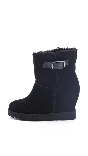 Ash Youri Shearling Wedge Boots