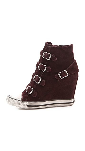 Ash United Wedge Sneakers with Buckles
