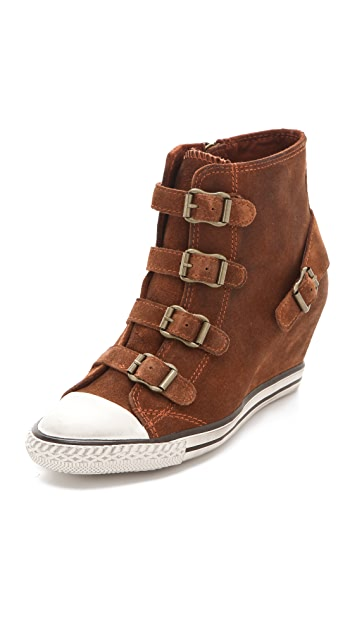 Ash Eagle Buckle Wedge Sneakers