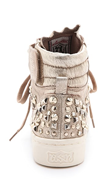 Ash Paranoid Platform Studded Sneakers