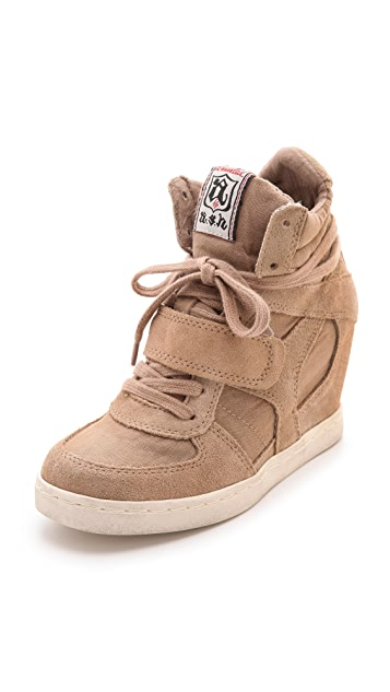 Ash Cool Suede Wedge Sneakers