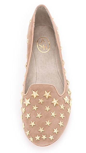 Ash Infini Star Studded Suede Loafers