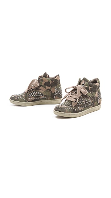 Ash Zest Studded Flat Sneakers