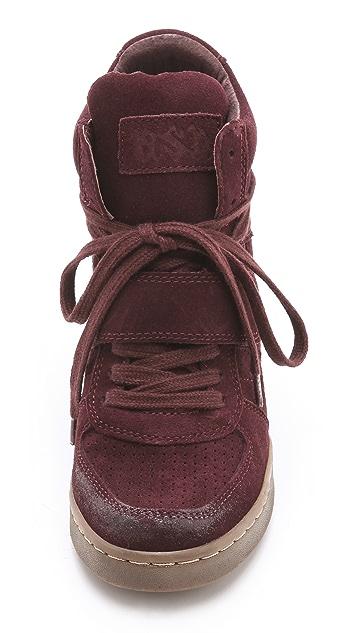 Ash Cool Suede Wedge Sneakers