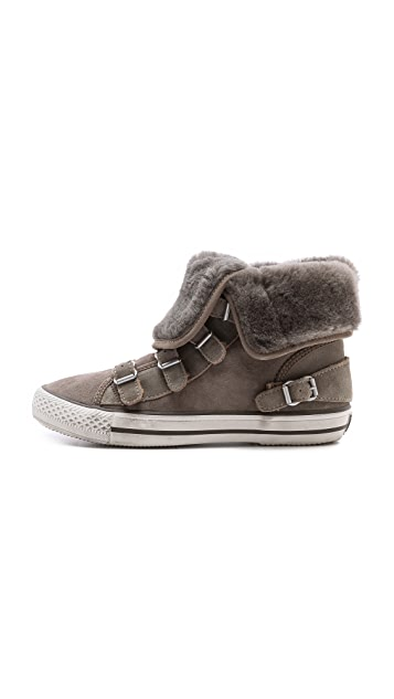 Ash Visby Shearling High Top Sneakers