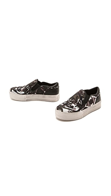 Ash Jungle Bis Printed Slip On Sneakers